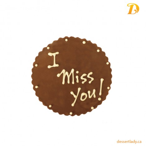 Chocolate Plaque I Miss U