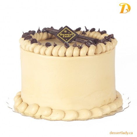 Double Chocolate Cake w/ Caramel Crisp & Coffee Buttercream