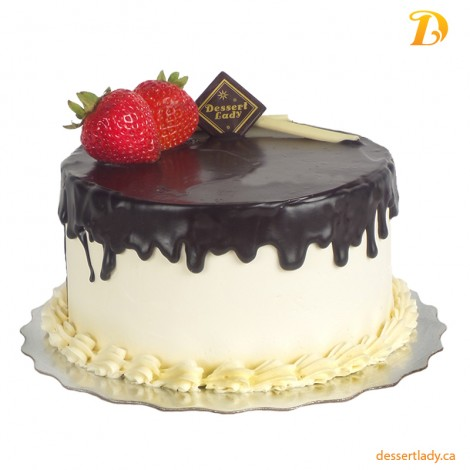 """5"""" Double Chocolate Cake with Vanilla Buttercream Icing"""