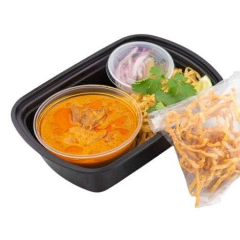 Chicken Khao Soi with Egg Noodles