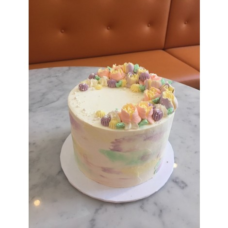 """6"""" Mother's Day Colourful Flowers Cake"""