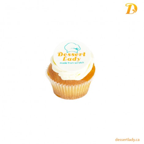 Vanilla Cupcake with Logo