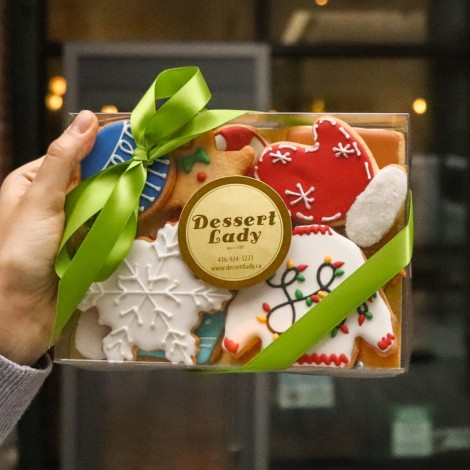 Decorated Gingerbread Cookies in a Box (10pcs)