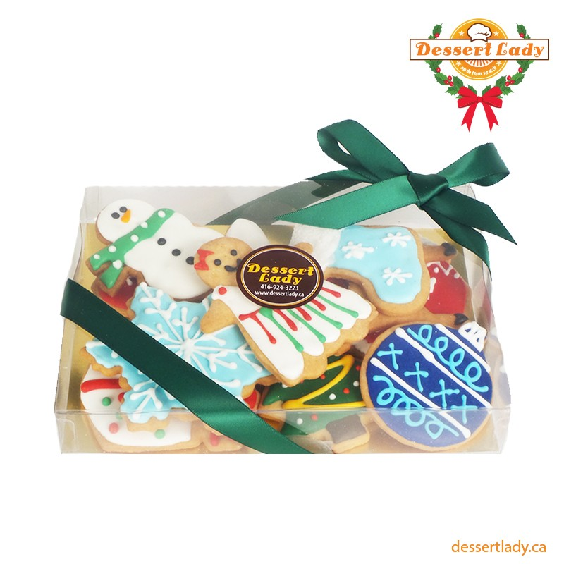 Decorated Sugar Cookies In A Box 10pcs Dessert Lady