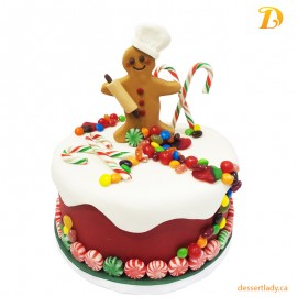 Festive Holiday Wow Cake – Chef Gingerbread Man