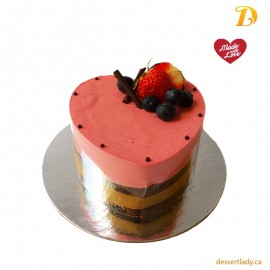 Raspberry Chocolate Mousse (heart-shape) 5""