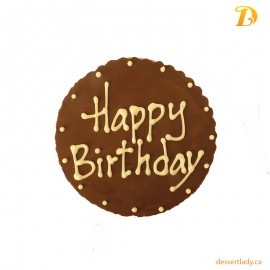 Chocolate Plaque Happy Birthday
