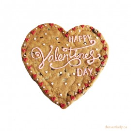 "Valentines Giant Chocolate Chip Cookie 8"" With Custom Message Option 2"