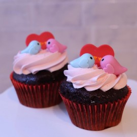 Love Birds Cupcakes (box of 2)
