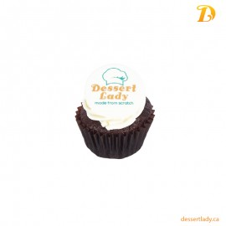 Chocolate Cupcake with Logo