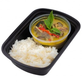 Thai Green Curry Chicken on Steamed Rice