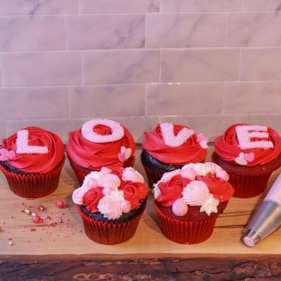 Valentine's (Red Hot Love) Cupcakes (Box of 6)