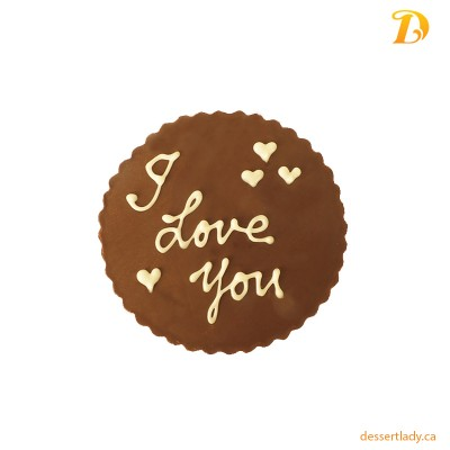 Chocolate Plaque I Love U