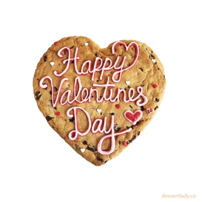 """Valentines Giant Chocolate Chip Cookie 8"""" With Custom Message Option 1"""