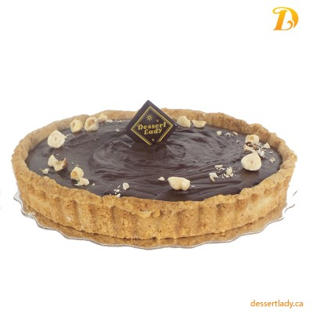 Nutella Chocolate Tart with Toasted Hazelnut Crust