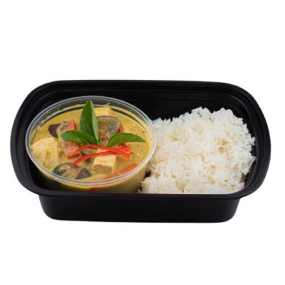 Thai Green Curry Veggie on Steamed Rice