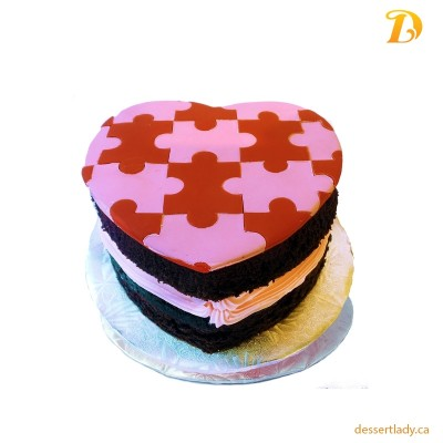 Valentines Specialty Cake Puzzles Style (heart-shape) 5""