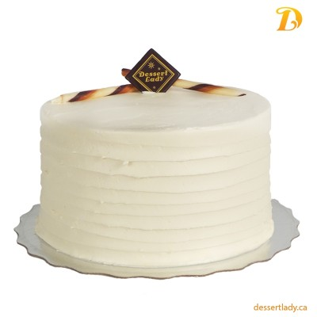 Vanilla Cake w/ Vanilla Custard Filling and Vanilla Buttercream Icing
