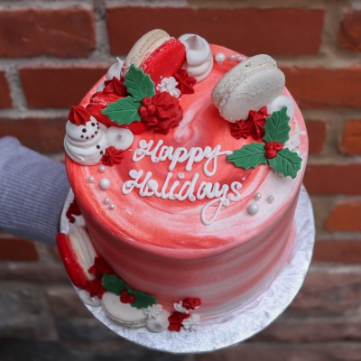 Holly Jolly Christmas Cake