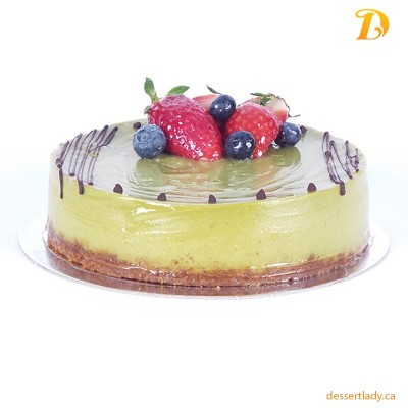 "6"" White Chocolate Matcha Green Tea Cheesecake"