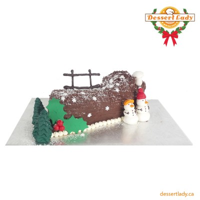 Yule Log with Vanilla Buttercream Icing