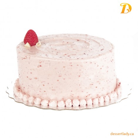 Vanilla Cake With Raspberry Buttercream Icing