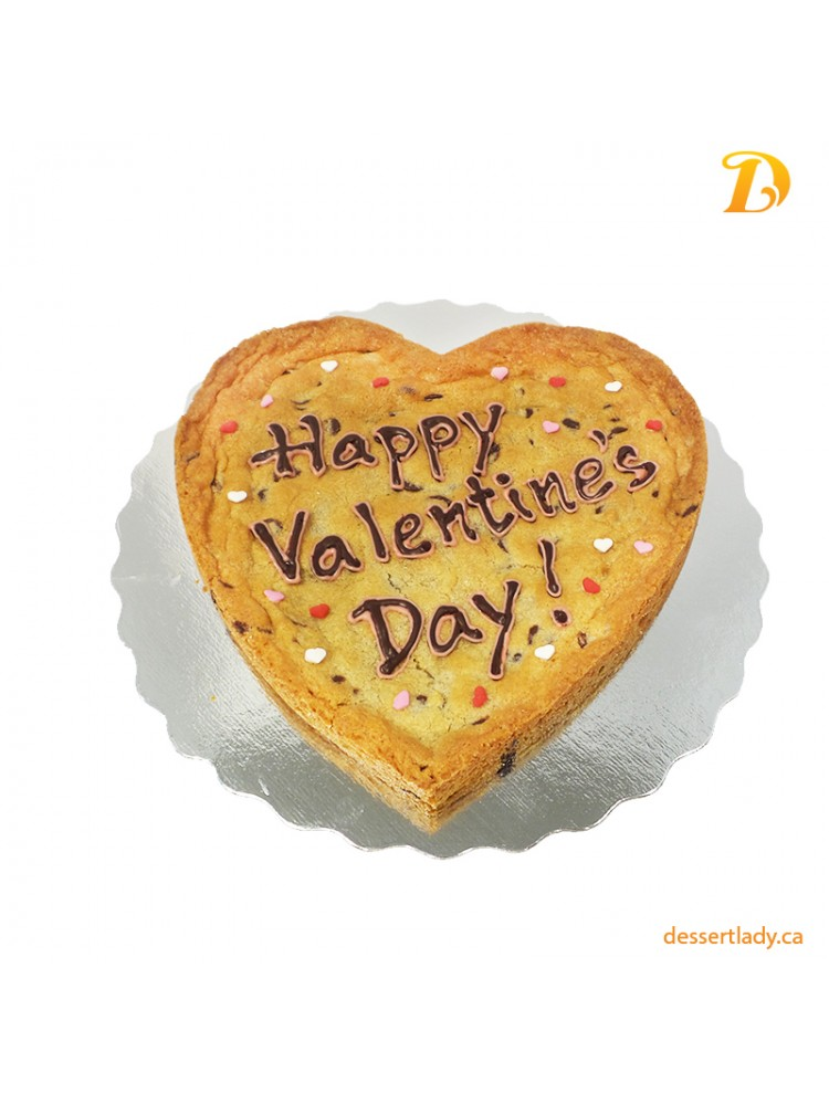 """Valentines Giant Chocolate Chip Cookie 8"""" With Custom Message"""