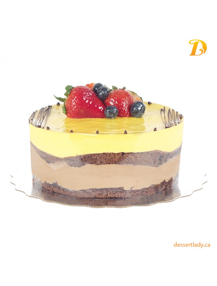 Mango Dark Chocolate Mousse Cake