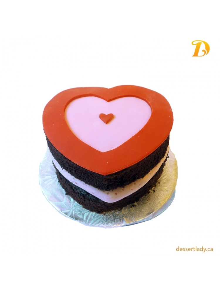 Valentines Specialty Cake Hearts Style (heart-shape) 5""