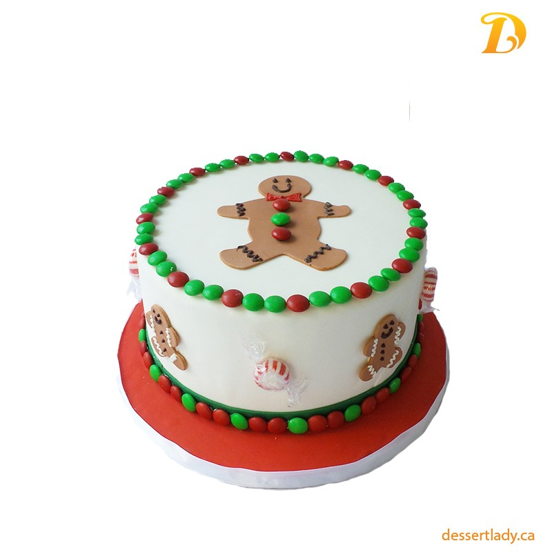 Festive Holiday Wow Cake – Gingerbread Man