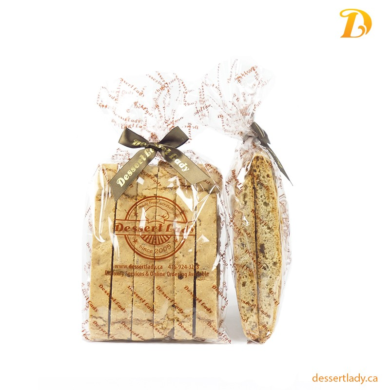 Candied Ginger Mixed Nuts Biscotti (12 Pieces)