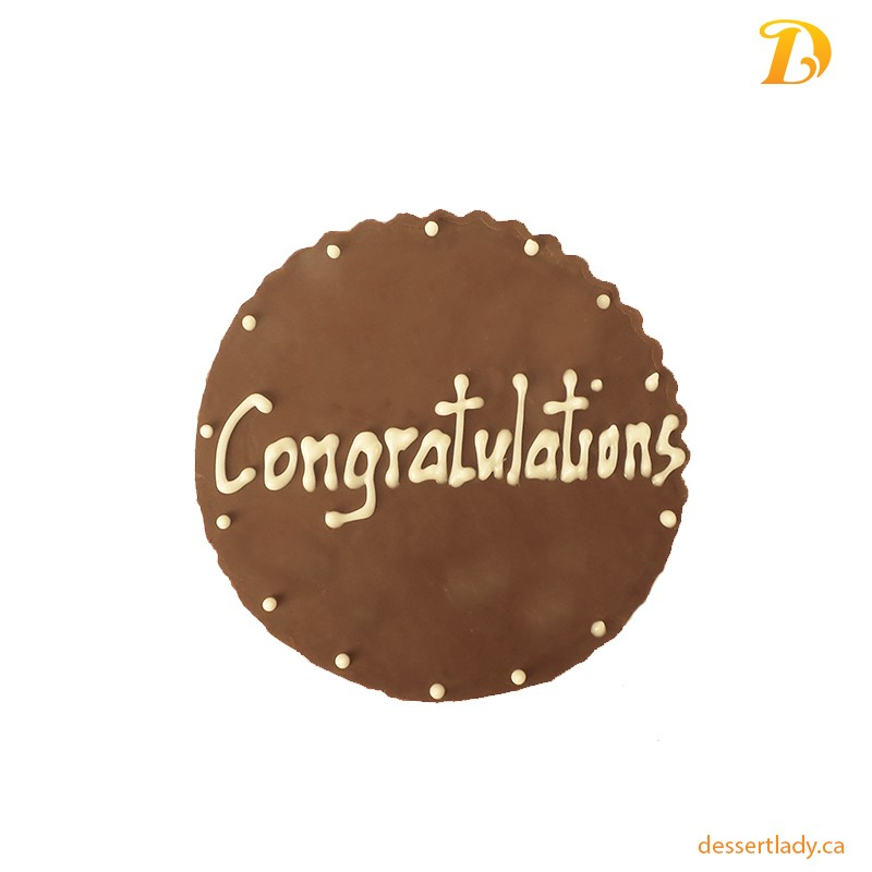Chocolate Plaque Congratulations