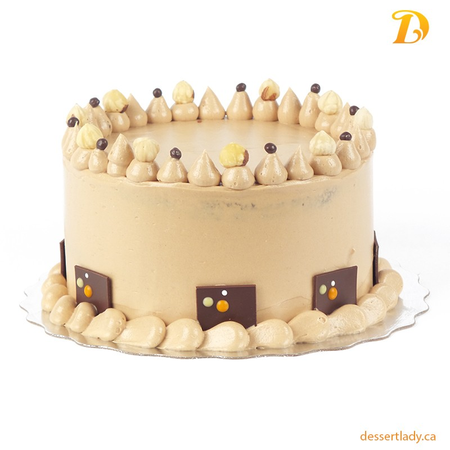 "5"" Double Chocolate Cake with Hazelnut Ganache and Hazelnut Buttercream"