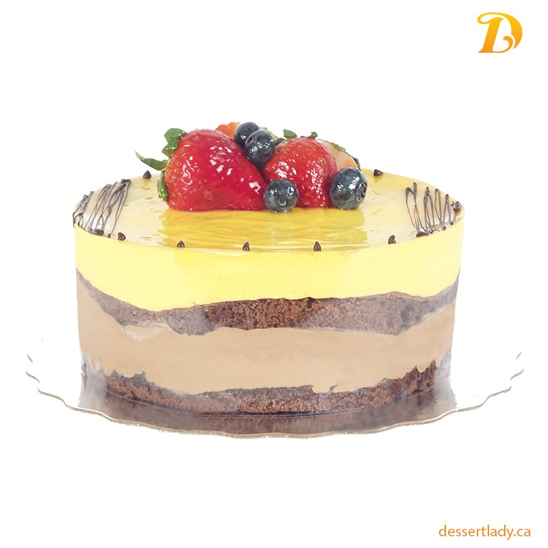 "8"" Mango Dark Chocolate Mousse Cake"