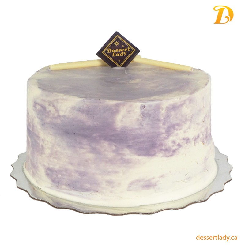 "5"" Ube (Purple Yam) Coconut Cake with Ube Buttercream Icing"