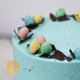 Blue Easter Eggs Cake