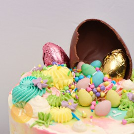Colourful Easter Explosion Cake